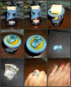 Jewelry in Candles Vanilla Wax Tart