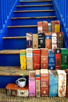 Beschilderde bakstenen als boek ♥