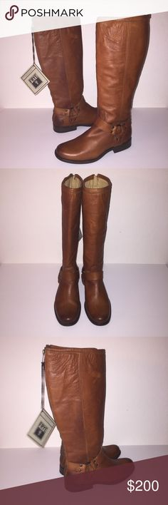 Frye Brown Phillip Harness Riding Boots sz 7 New no box no trades send me a offer Frye Shoes Heeled Boots