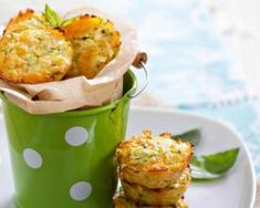 Savory Cauliflower and Cheese Cakes - Recipes for Healthy Living by the American Diabetes Association® Diabetic Recipes, Low Carb Recipes, Cooking Recipes, Healthy Recipes, Cauliflower Cheese, Cauliflower Muffins, Cauliflower Recipes, Great Appetizers, Zucchini Appetizers