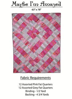 Additional Images of Maybe I'm Amazed Quilt Pattern Download by Abbey Lane Quilts - ConnectingThreads.com