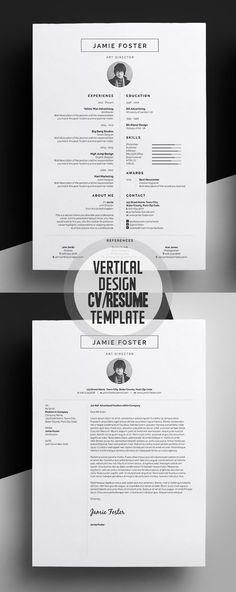 Beautiful Vertical Design CV/Resume Template