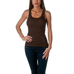 Sofra Women's Tank Top Cotton Ribbed-Medium-Brown Sofra http://www.amazon.com/dp/B00M8NMKM8/ref=cm_sw_r_pi_dp_iQJUwb0VNYXYS