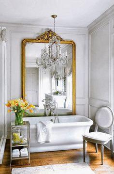 Home Interior, Home Decorating Ideas: Creating the Home Decorating Ideas on the Spring: Beautiful Dresser For Spring Home Decorating Ideas Bad Inspiration, Bathroom Inspiration, Beautiful Bathrooms, Modern Bathroom, Classic Bathroom, French Bathroom, Glamorous Bathroom, Feminine Bathroom, Parisian Bathroom