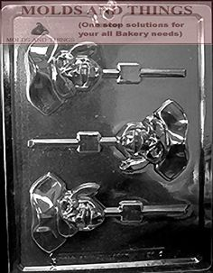 PIRATE SKULL Lolly Kids Chocolate candy mold with Copywrited molding Instructions