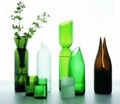 Transglass Recycled Glass Tableware by Tord Boontje and Emma W...