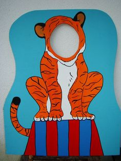 Carnival Prop Ideas | Tiger Photo Prop - Circus or Carnival Themed Party Photo Props