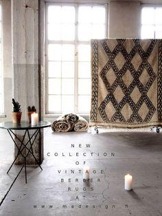 MADesign // Vintage Berber Rug // Handmade Green Marble Table //