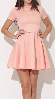Pink flare dress.