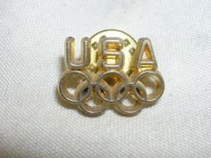 "USA Olympic Rings Pin 3/4"" Long Hat Pin #USA"
