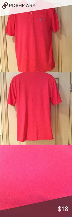 Red Johnnie O Polo Shirt This cotton 4 button polo shirt in red is perfect to wear for the holidays or whenever! There is a slight mark on the bottom right of the shirt (see 3rd picture) otherwise in excellent condition Johnnie-O Shirts Polos