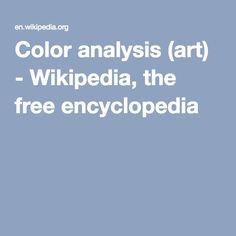 Color analysis (art) - Wikipedia, the free encyclopedia