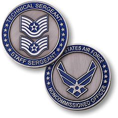 Air Force Technical Sergeant Staff Sergeant - Two Rank Sergeant Coin Military First, Military Ranks, Military Life, Military Aircraft, Master Sergeant, Staff Sergeant, Coin Collecting Books, Military Challenge Coins, Non Commissioned Officer