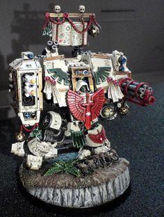 Figurine Warhammer, Warhammer 40k Figures, Warhammer 40k Miniatures, Warhammer 40000, Warhammer Art, Space Marine Dreadnought, Dark Angels 40k, Miniaturas Warhammer 40k, 40k Armies
