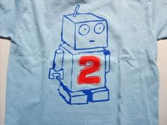 Robot Birthday Shirt