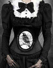 Serre-taille gothique 'dark raven'