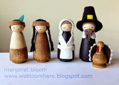 peg dolls   Thanksgiving Peg Dolls