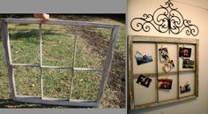 Window frame turned picture frame - DIY