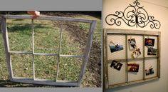 Window frame turned picture frame - DIY