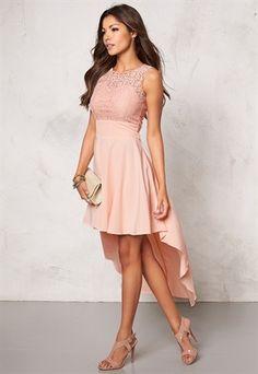 Chiara Forthi Kimberly Highlow Dress Powder pink