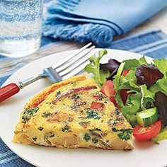 Spinach, Onion and Potato Frittata