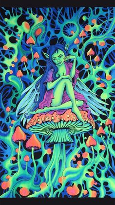 Psychedelic tapestry, Trippy wall hanging, UV active batik wall-h Fullhd Wallpapers, Art Mural, Wall Art, Kunst Inspo, Hippie Posters, Trippy Pictures, Psychedelic Tapestry, Fantasy Kunst, Psychadelic Art