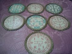 Offer 7 Archangel Seals. Raphael, Michael,Uriel, Gabriel, Samael, Zadkiel,Thavael. Sigil,mystical powers,vibration, Ceremony Ritual Holy div.