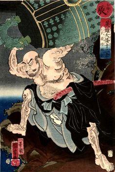 Sign: Dragon (Tatsu, 辰) Hero: Musashi-bô Benkei hurling the great bell of Miidera Robinson: S84.