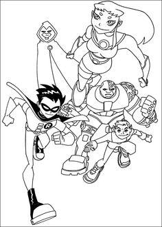 Desenhos para colorir Os Jovens Titãs 14