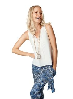 Fashionmania look Spring 2014, Tank Tops, Casual, Pattern, How To Wear, Women, Fashion, Moda, Halter Tops