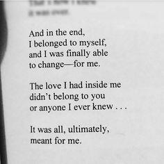I belong to myself.