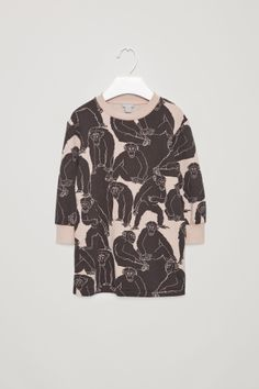 COS Dress with monkey print in Rose Pink