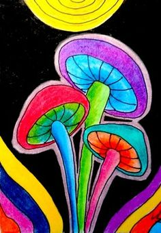 COLORFUL MUSHROOMS #2 ACEO ON EBAY Mushroom Art, Ebay Auction, Say Hi, Card Sizes, Selling On Ebay, Atc, Projects For Kids, Artsy Fartsy, Pastels
