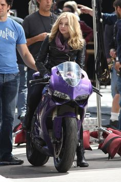 Chloe Moretz Rides A Purple Ducati Panigale ~ Grease n Gasoline
