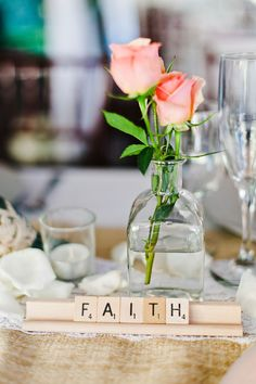 I would like to incorporate scrabble letters into the decor. Its something that is special to my family and to Matt's... Both our families have a love for scrabble in common so I would like to find a creative way to make if part of the decor