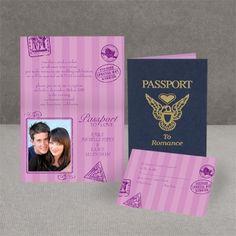 Wedding invitation creative option -Passport to Romance