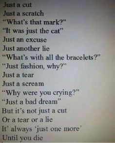 poem about a of self harm  so sad  :(