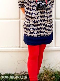 Alicia Dress in #Navy from #Joules #UK - #fashion #lookbook #red #tights