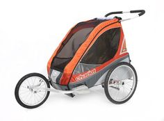 Chariot Carriers offers this jogging conversion kit to turn your Corsaire 2 baby carriers into a high performance jogging stroller. The larger wheels provided in this kit will make your chariot ideal to use for an all terrain stroller, if you are planning to get off road and into the rougher ground at the park, beach or walking trails.