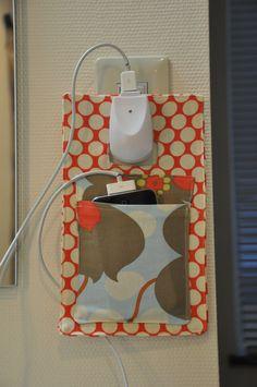 Diy fabric charging holder - Buscar con Google