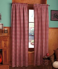 Checkered Window Panel or Valance|The Lakeside Collection