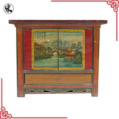 wholesale chinese antique reproduction painted storage furniture