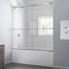 DreamLine Charisma 56 To Frameless Bypass Sliding Tub Door And QWALL Tub  Backwall Kit   Mega Supply Store