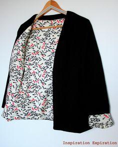 Couture: la veste Aime comme Mina de Aime comme Marie Kimono Dress, Kimono Top, Hijab Fashion, Boho Fashion, Aime Comme Marie, Work Chic, Couture Sewing, Couture Tops, Blazers For Women