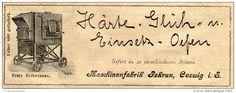 Original-Werbung/ Anzeige 1905 :  HÄRTE - GLÜH UND EINSETZ OFEN / MASCHINENFABRIK REKRUN COSWIG - ca. 150 x 55 mm