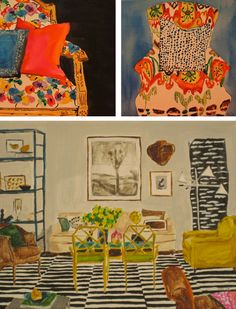 lovely paintings by Kate Lewis. Gorgeous!