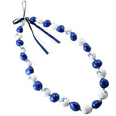 Dayna U Kentucky Wildcats Royal Blue-White Kukui Lei Necklace