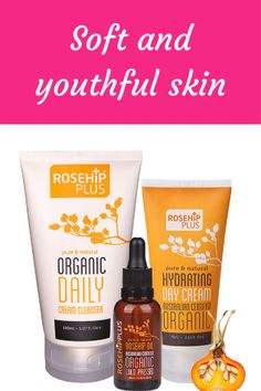 Treat yourself to glowing youthful skin with one of four RosehipPLUS Certified Organic Skincare packs including the new Cream Cleanser, Hydrating Day Cream and Organic Rosehip Oil. All products use...