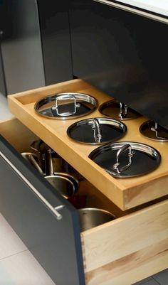 Keukenkastjes idee pannen