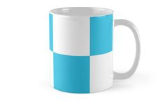 #Blue And #White #Checkered Print #Mug by KCavender